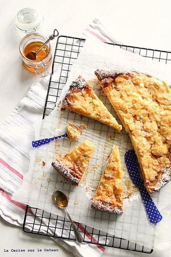 Apricot Almond Tart - Tarte Abricots Amandes Recipe — Dishmaps