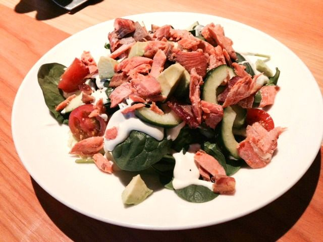 WildFinGrill Smoked #Salmon BLT Salad. Crisp iceberg, tender spinach ...