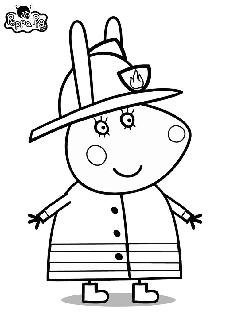 Coloring Pages To Print Peppa Pig : Free coloring pages of peppa pig birthday