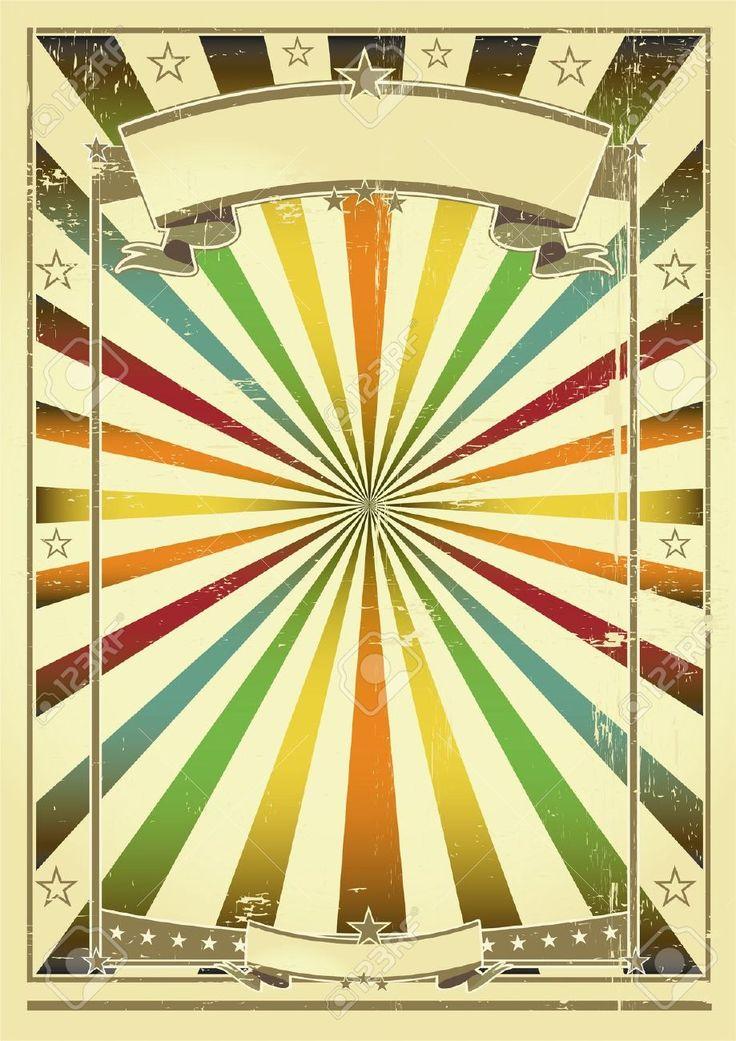 Circus camp poster template