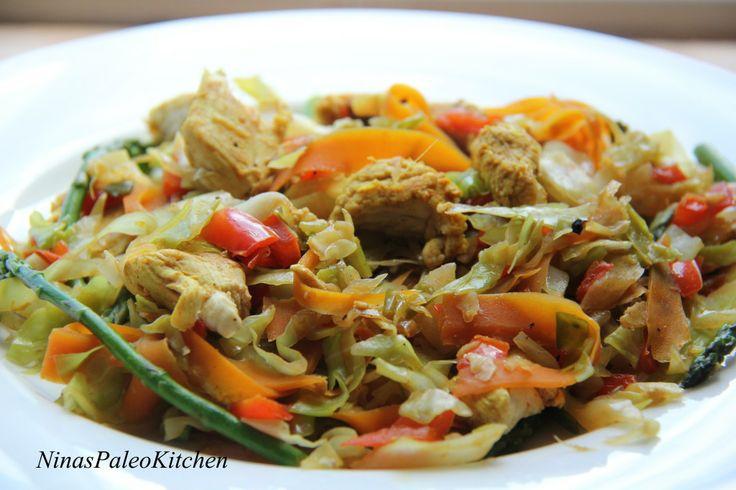 Curried Chicken Stir Fry | Healthified Treats | Pinterest