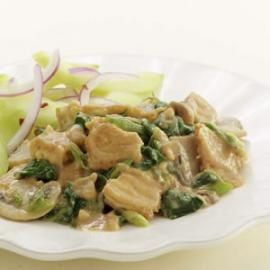 Well Tofu and vegetables get a dramatic lift from a spicy peanut sauce ...