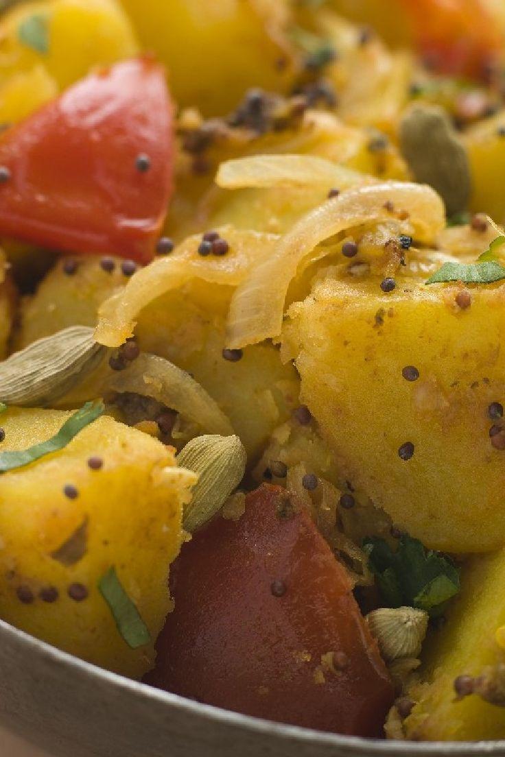 ... curry powder, fresh cilantro, new potato, olive oil, sea salt