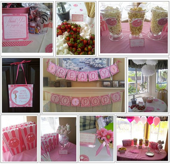 ready to pop pink baby shower printable decoration pack a personaliz
