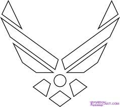 us air force insignia coloring pages for kids pinterest