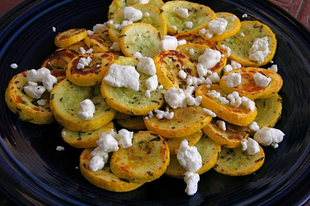 Roasted Summer Squash with Goat Cheese | Lets get cooking!!! | Pinter ...