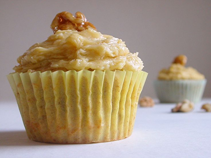 maple walnut cupcake | Time to cook...desserts! | Pinterest