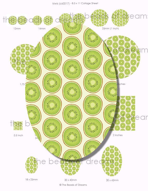 Beads and Jewelry supplies - The Beads of Dreams - Green kiwi - 12mm ...