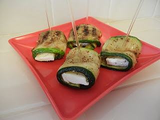 Zucchini & Cheese Roll-ups | Weight Loss Friendly Food | Pinterest