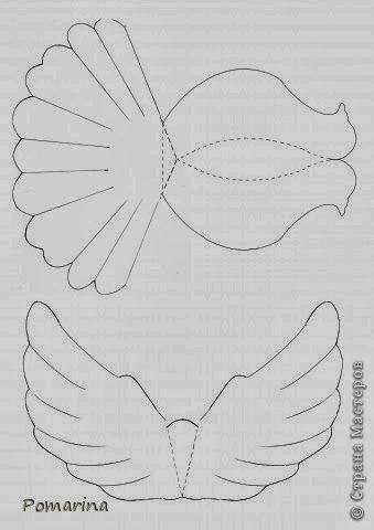 макет голубя из бумаги своими руками