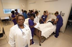 Barnes-Jewish Hospital nurse Debra Watkins, BSN, RN volunteers on a ...