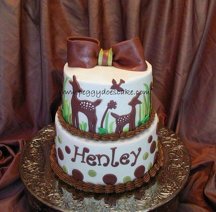 cake idea baby deer shower cake decorations baby shower cake