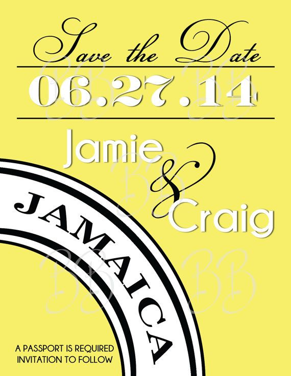 Destination Wedding Save The Date Magnet 06 Jamaica Mexico Where