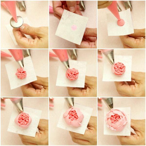Как сделать малазийскую розу из крема