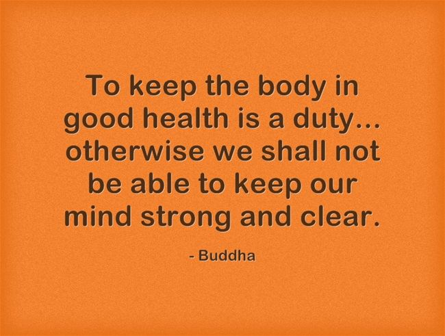 Healthy Body and Mind Quotes