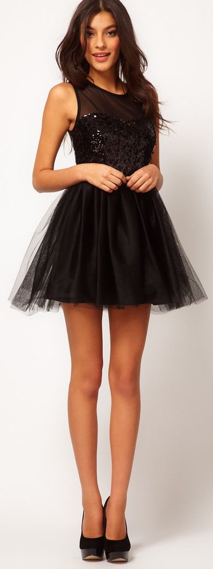 Party Dress w/ Sequin Bodice