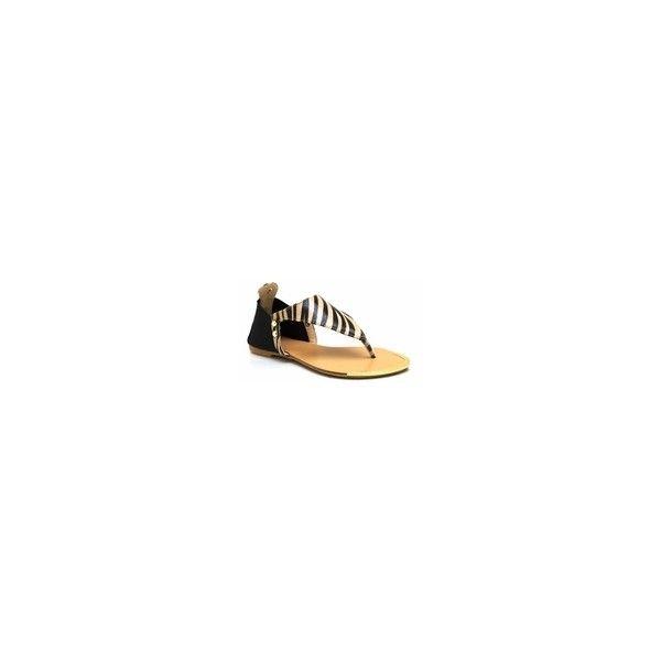 Zebra Thong Sandals 51
