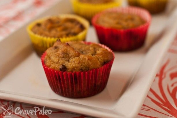 Paleo mango chocolate chip cupcakes