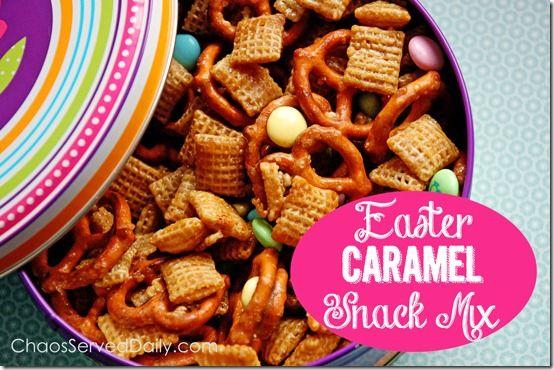 Spring Caramel Party Mix | Sides ,Salads, & Snacks | Pinterest