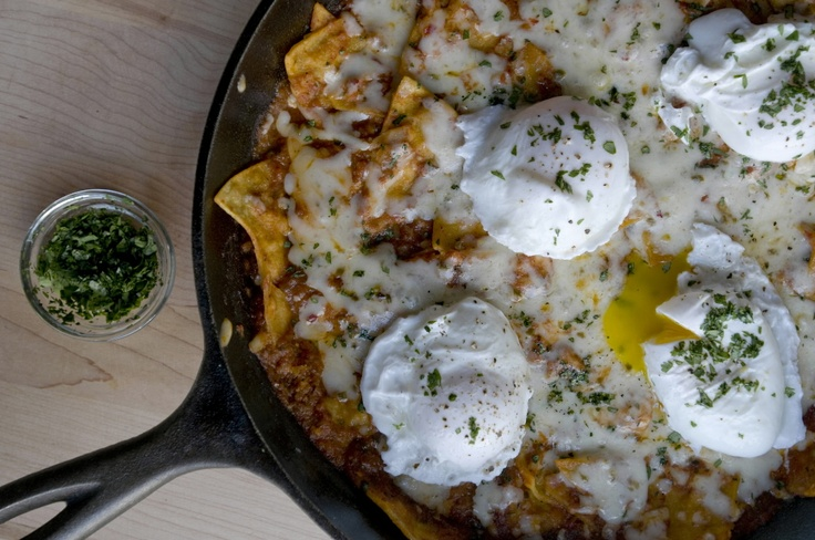 chilaquiles with poached eggs | eggs breakfast n brunches | Pinterest