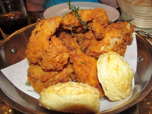 Fried Chicken & Biscuits | Southern Hospitality :) | Pinterest