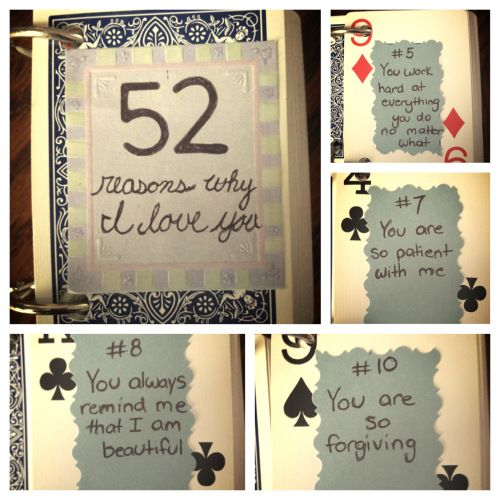 52 Reasons Why I Love You Cards Quotes : 52 Reasons Why I Love You beautiful words Pinterest