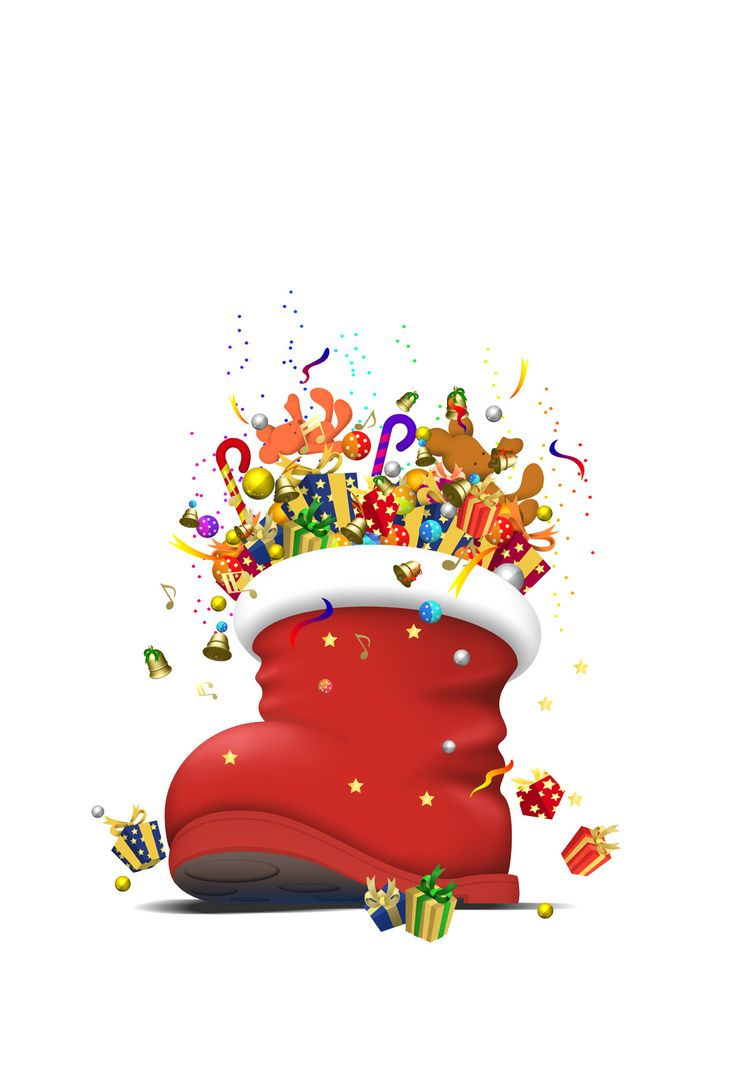 santa boot | Cute Clip Art - Christmas | Pinterest