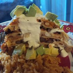 """Seven Layer Tortilla Pie 