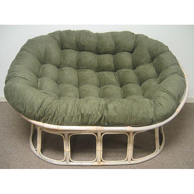 Double Papasan Chair with Microsuede Cushion