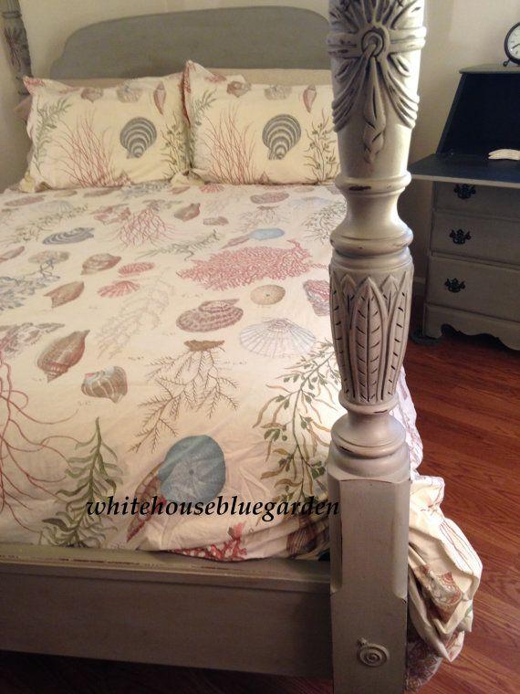 Chalk Paint Brass Bed