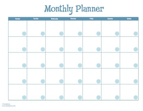 Monthly Calendar with Stickers (Printable Activity for Kids & Parents ...