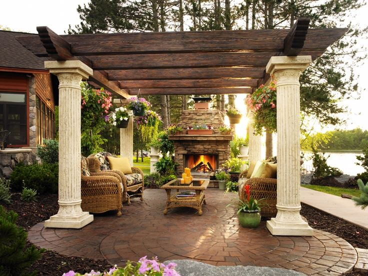 Outdoor kitchen and pergola for the home pinterest for Outdoor kitchen under pergola