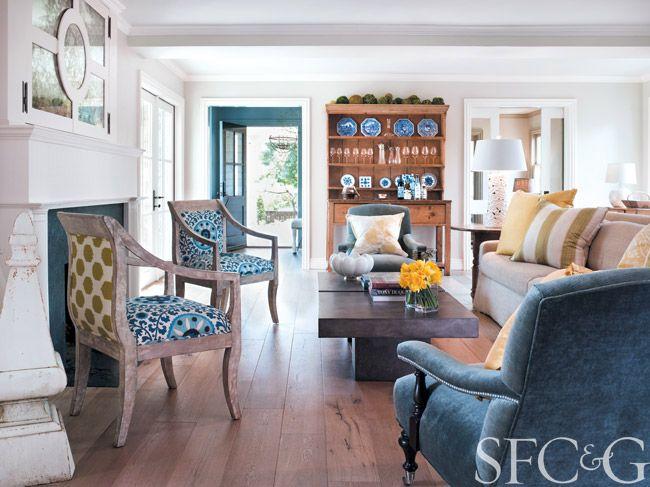 ... San Francisco living room designed by Benjamin Dhong Interior Design