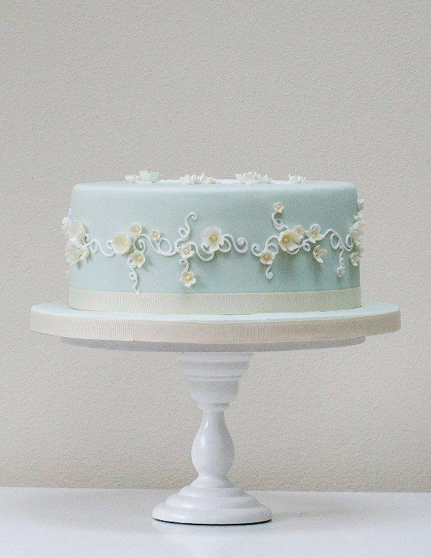 Light Blue Birthday Cakes Without Fondant
