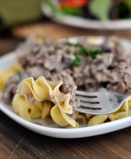 Mel's Kitchen Cafe | Delicious Ground Beef {or Turkey} Stroganoff