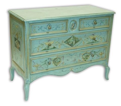 Amy Howard Blue Painted Antique Dresser Furniture Pinterest