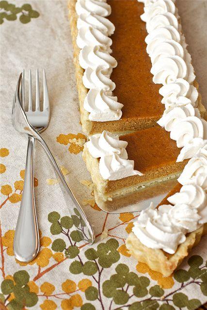 Bourbon Pumpkin Tart. | thanksgiving | Pinterest