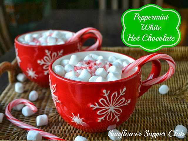 Peppermint White Hot Chocolate - by Sunflower Supper Club -- http ...