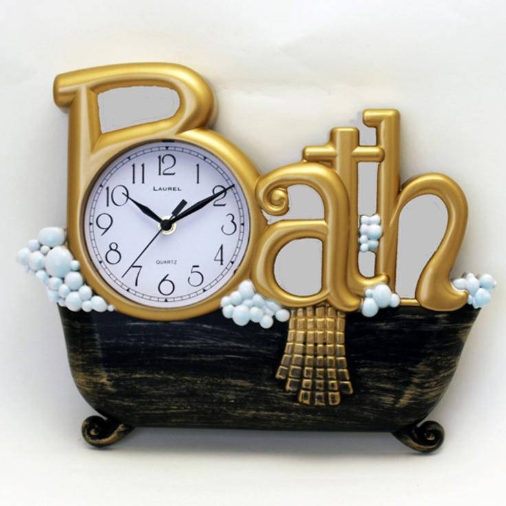 Bath Clock For the Bathroom & Laundry Room Pinterest