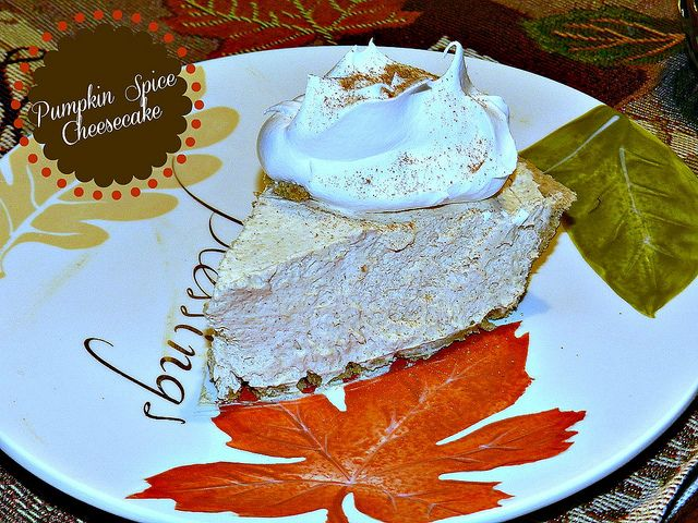 No-Bake Pumpkin Spiced Cheesecake | Random desserts | Pinterest