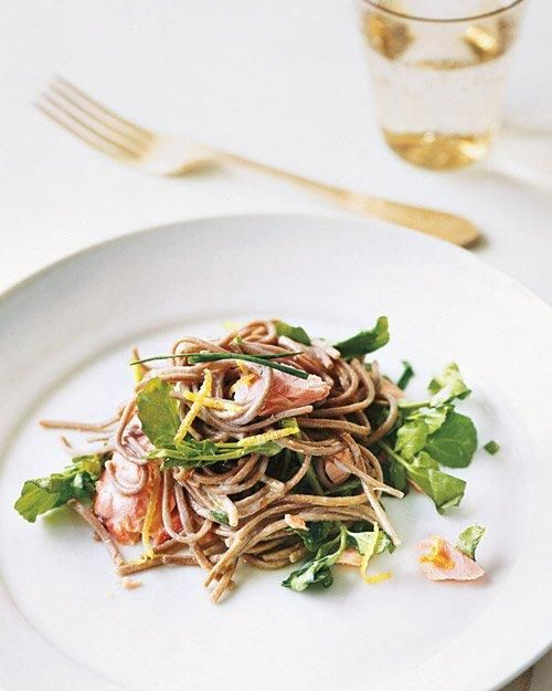 Soba with Salmon and Watercress | Recipes | Pinterest