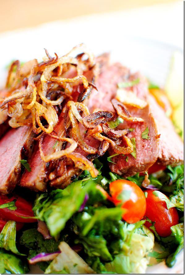 Thai Grilled Steak Salad Recipe — Dishmaps