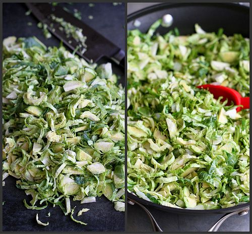 Shredded Brussels Sprouts with Pistachios, Cranberries & Parmesan | R ...