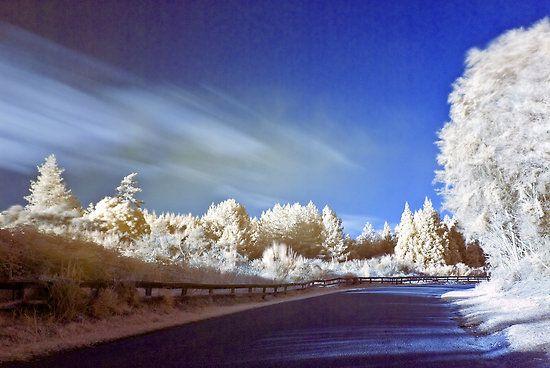 Geyser road in infrared by Paul Mercer