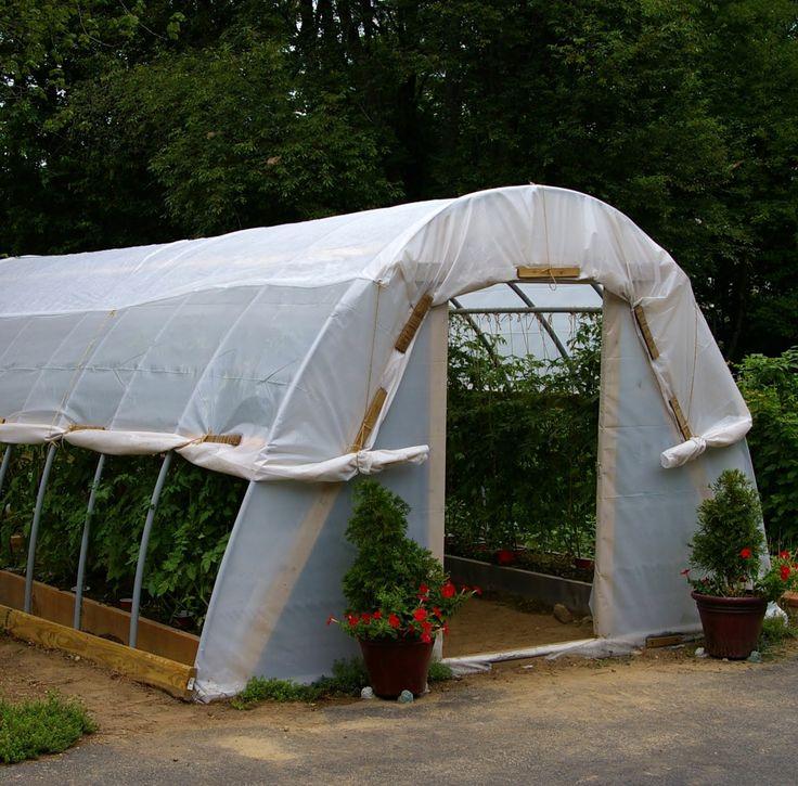 Awesome hoop house gardening greenhouses pinterest for Diy hoop greenhouse