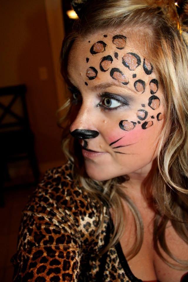 Halloween Cheetah Makeup Holiday