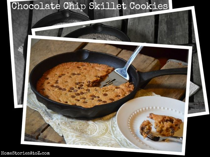 Skillet Chocolate Chip Cookie {cookie recipe}