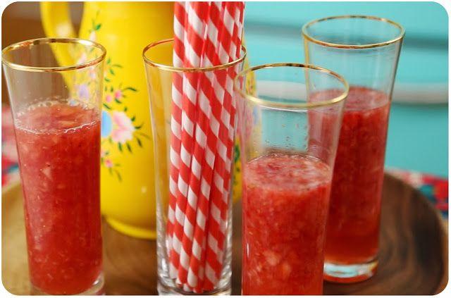 Strawberry Sake Cocktail Recipe — Dishmaps