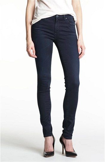 AG Jeans 'The Middi' Mid Rise Denim Leggings (Last Call) | Nordstrom