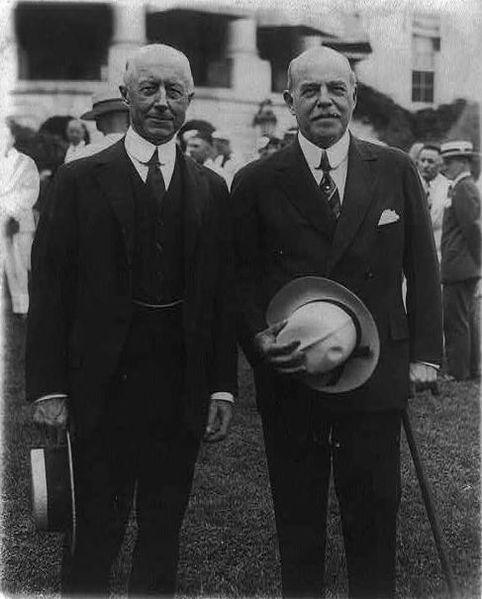 Speaker of the House Longworth and Navy Secretary Charles Adams